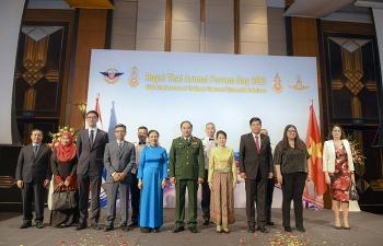 Những hình ảnh đẹp trong lễ Kỷ niệm Ngày lực lượng vũ trang Hoàng gia Thái Lan