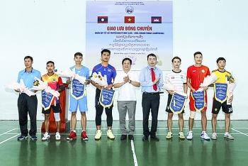 Giao lưu bóng chuyền 3 nước Việt Nam - Lào - Campuchia tại Khánh Hòa nhân dịp Tết cổ truyền