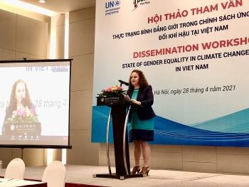 Việt Nam là một trong số ít quốc gia coi bình đẳng giới là một nội dung xuyên suốt trong NDC