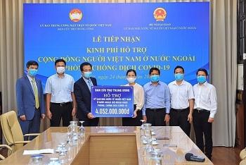 Hỗ trợ hơn 4 tỷ đồng cho người Việt Nam ở nước ngoài chịu ảnh hưởng bởi dịch COVID-19