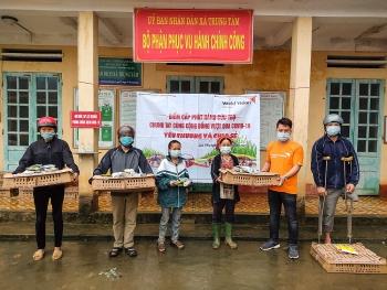 World Vision Việt Nam hỗ trợ các hộ gia đình huyện Lục Yên (Yên Bái) phòng chống COVID-19