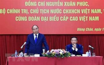 Chủ tịch nước đánh giá cao cộng đồng người Việt tại Lào luôn hướng về đất nước