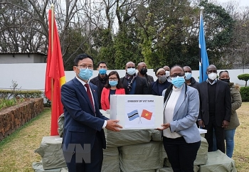 Cộng đồng người Việt tại Nam Phi hỗ trợ 100.000 khẩu trang cho Namibia và Botswana