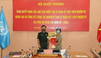 Việt Nam có thêm nữ sĩ quan làm nhiệm vụ gìn giữ hòa bình Liên hợp quốc