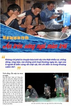 500 giờ cùng ngư dân trên biển (bài 2): Ăn trên sóng ngủ màn trời