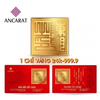 Mãn nhãn với vàng miếng 1 chỉ có hình ấn Triều Trần cho tháng tài lộc