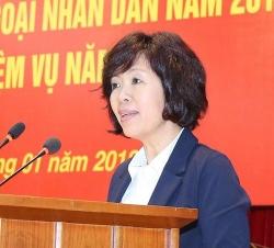 Bà Nguyễn Thị Hoàng Vân được bổ nhiệm giữ chức Phó Trưởng Ban Đối ngoại Trung ương