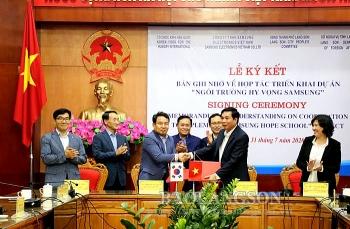 """Hàn Quốc tài trợ gần 20 tỷ đồng triển khai Dự án """"Ngôi trường Hy vọng Samsung"""" tại Lạng Sơn"""