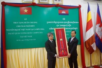 Vương quốc Campuchia tri ân công lao của cố Đại sứ Ngô Điền