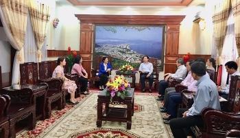 Chủ tịch VUFO Nguyễn Phương Nga làm việc tại Bình Định về đối ngoại nhân dân