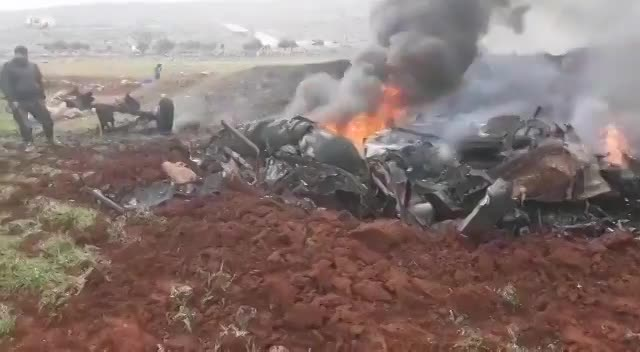video may bay quan su syria bi ban ha 2 phi cong tu vong
