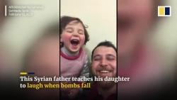 song giua vung chien su nguoi cha syria day con gai 3 tuoi bat cuoi khi nghe tieng bom roi