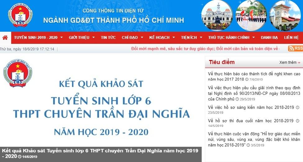 sang mai 37 tp hcm cong bo diem chuan lop 10 nam 2019