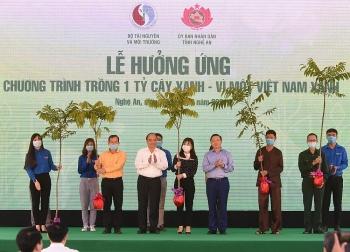 Chùm ảnh: Thủ tướng dự Lễ hưởng ứng chương trình trồng 1 tỷ cây xanh