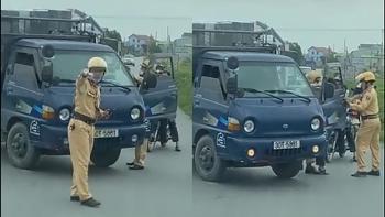 Vì sao 2 chiến sĩ CSGT và tài xế ô tô tải giằng co quyết liệt giữa đường?