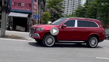 """Xe sang Mercedes-Maybach GLS 600 không biển số """"nhẩy nhót"""" và đi ngược chiều"""