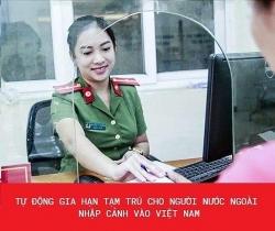 thong bao tu dong gia han tam tru cho nguoi nuoc ngoai nhap canh vao viet nam