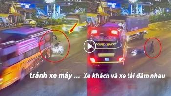 Khoảng khắc nam thanh niên sang đường khiến 2 xe ô tô đâm nhau