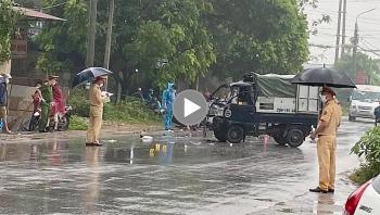 Xe máy lấn làn đâm trực diện ô tô tải, 1 người tử vong