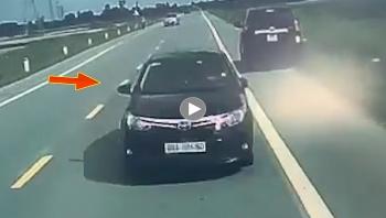 Thêm clip vụ tai nạn do chiếc Toyota Vios lấn làn tại Hưng Yên