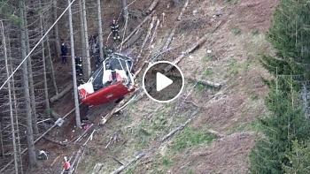 Vụ tai nạn cáp treo khiến 14 người tử vong tại Italy