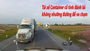 Tranh cãi về tình huống thiếu 'đạo đức lái xe' của tài xế Container