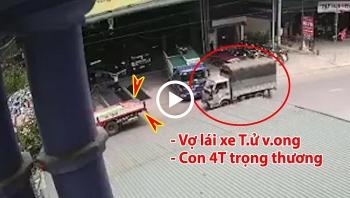 Tông vào đuôi xe dừng đỗ, gia đình tài xế ô tô tải thương vong