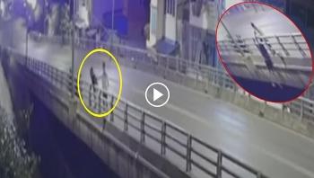 Đang đi với bạn trai, cô gái bất ngờ nhảy cầu tự tử