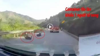 Container đi lấn làn gây tai nạn kinh hoàng khiến 2 người thương vong