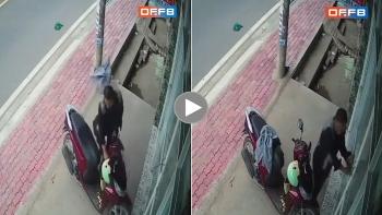 Tên trộm khoá cửa nhà rồi 'thản nhiên' lấy xe máy