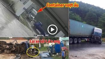 Container vượt ẩu tông trực diện xe tải
