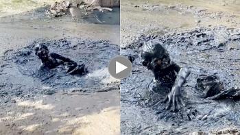 Say rượu, người đàn ông nằm dưới đống bùn khiến nhiều người kinh hãi