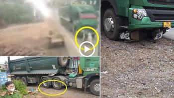 Xe đầu kéo không làm chủ tốc độ, tông xe máy từ phía sau