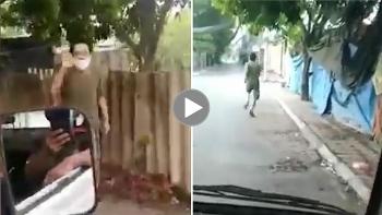 Người đàn ông đi tập thể dục bỏ chạy khi thấy lực lượng chức năng