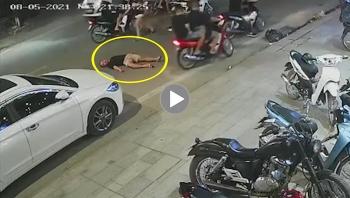 Xích mích khi tham gia giao thông, nhóm người đánh 1 người đàn ông bất tỉnh