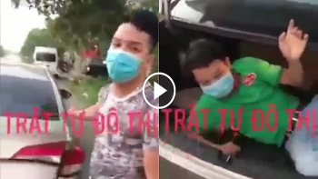 Nam thanh niên trốn trong cốp xe ô tô để thông chốt kiểm dịch