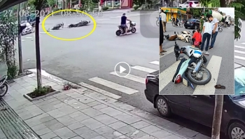 Phóng như 'bay' vượt đèn đỏ, nam thanh niên gây họa cho người phụ nữ đi xe máy