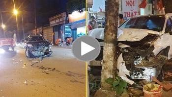 Va chạm kinh hoàng giữa 3 xe ô tô tại Sơn La