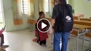 Phẫn nộ nhóm học sinh đánh bạn gái, bắt quỳ giữa lớp học