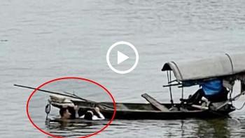 Cô gái đuối nước được Thượng uý quân đội giải cứu thành công