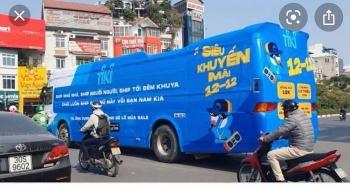 Xe khách phủ kín decal quảng cáo sẽ phải chịu mức phạt lên đến 4.550.000 đồng