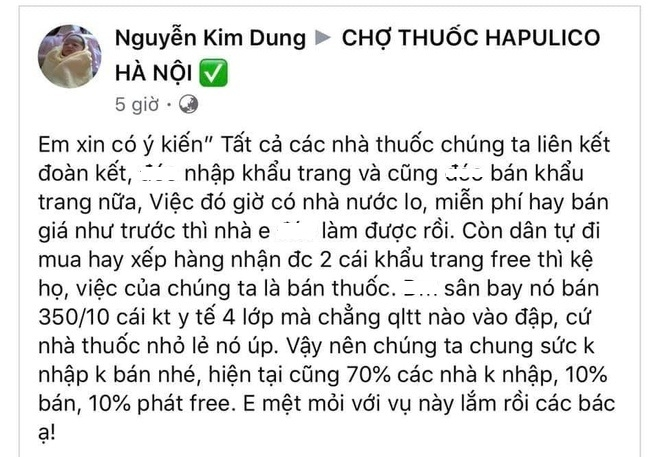 keu goi khong ban khau trang co the bi xu phat 30 trieu dong