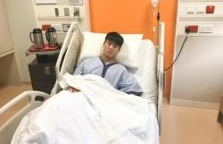 Duy Mạnh hoàn thành ca phẫu thuật chấn thương dây chằng đầu gối ở Singapore