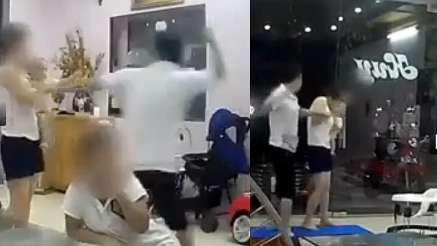 clip chong danh toi tap nguoi vo dang om con nho gay phan no cong dong mang