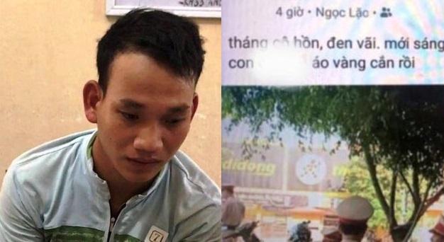 xuc pham csgt tren facebook nam thanh nien bi phat 75 trieu dong