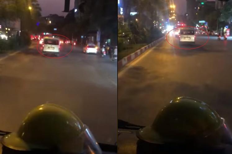 video lai co them o to khong chiu nhuong duong mac cho xe cuu hoa phat loa thong bao