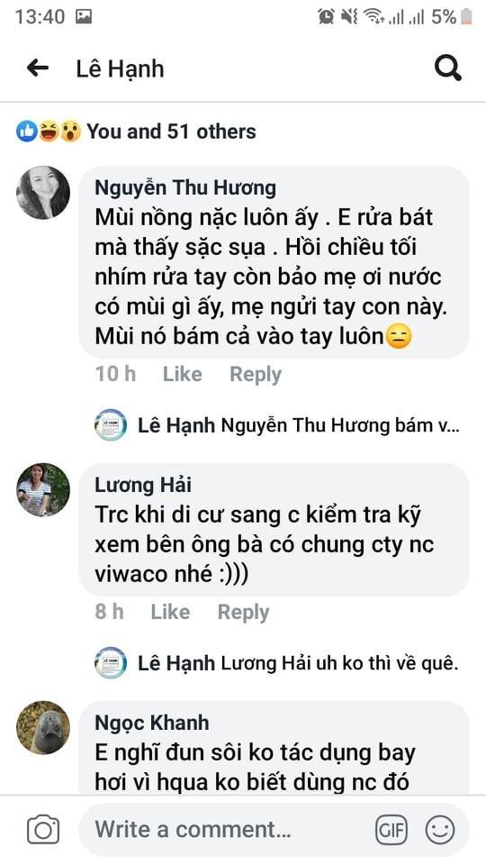 nguoi dan ha noi lo lang vi nuoc co mui la se tien hanh lay mau nuoc de phan tich