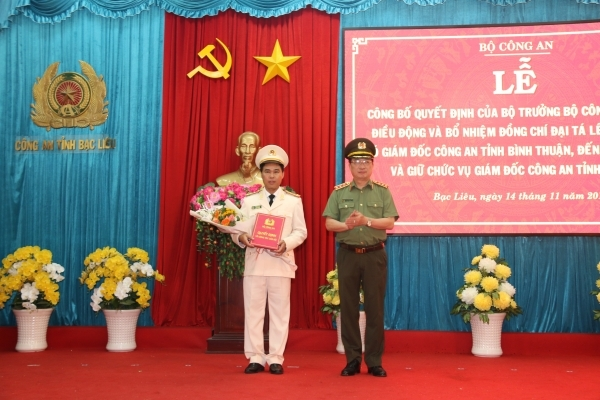 pho giam doc cong an tinh binh thuan giu chuc giam doc cong an tinh bac lieu