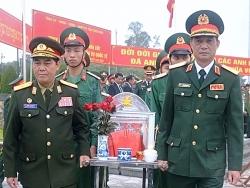 dien bien don nhan truy dieu va an tang hai cot liet si quan tinh nguyen viet nam lao