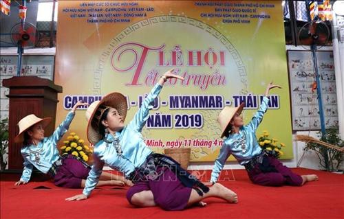 nhan dan 5 nuoc cung vui tet co truyen campuchia lao myanmar thai lan